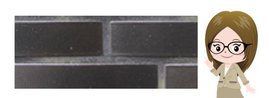 黒いレンガの外壁