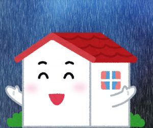 台風や大雨でも安心!ラムダは耐水性が高い
